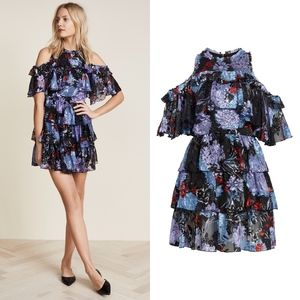 ALICE + OLIVIA Nichola Floral Ruffle Dress